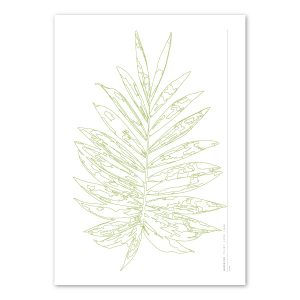 Euphoria House Botanical Custom Birth Print Baby Palm